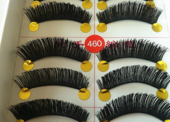 V-460 ขนตาด้ายดำ(ขายปลีก) เเพ็คละ 10 คู่
