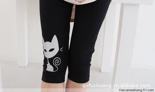 กางเกงเล็คกิ้งL037สีดำ