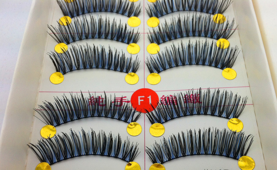 V-F1 ขนตาปลอม(ขายปลีก) สีน้ำเงิน+ดำ
