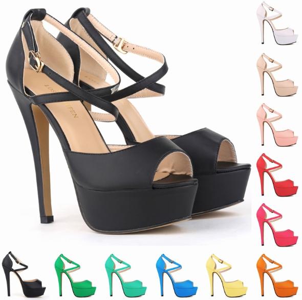 รองเท้าส้นสูง ไซต์ 34-42 สีดำ/แดง/ขาว/นู๊ด/ชมพูอ่อน/ชมพูเข้ม/ส้ม/เหลือง/ฟ้าอมเขียว/ฟ้า/เขียว