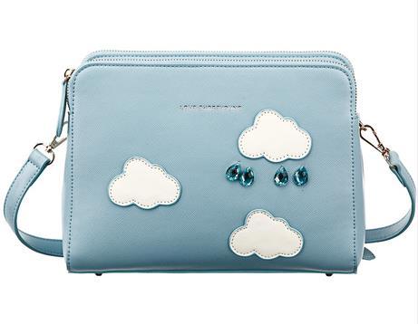 กระเป๋า Share Young สีฟ้าลายก้อนเมฆ (พรีออเดอร์)