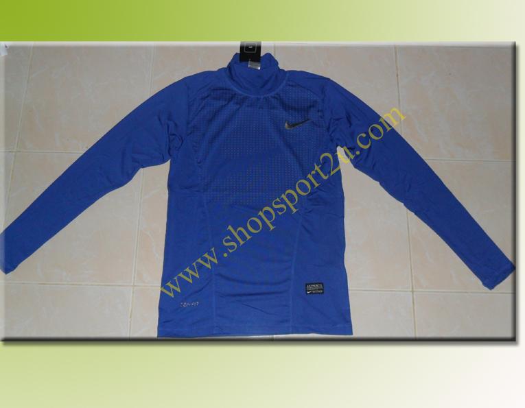 เสื้อฟิต nike สีน้ำเงิน