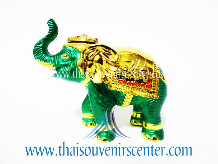 ของพรีเมี่ยม ของที่ระลึกไทย ช้าง แบบ 8 Size S สีเขียวทอง
