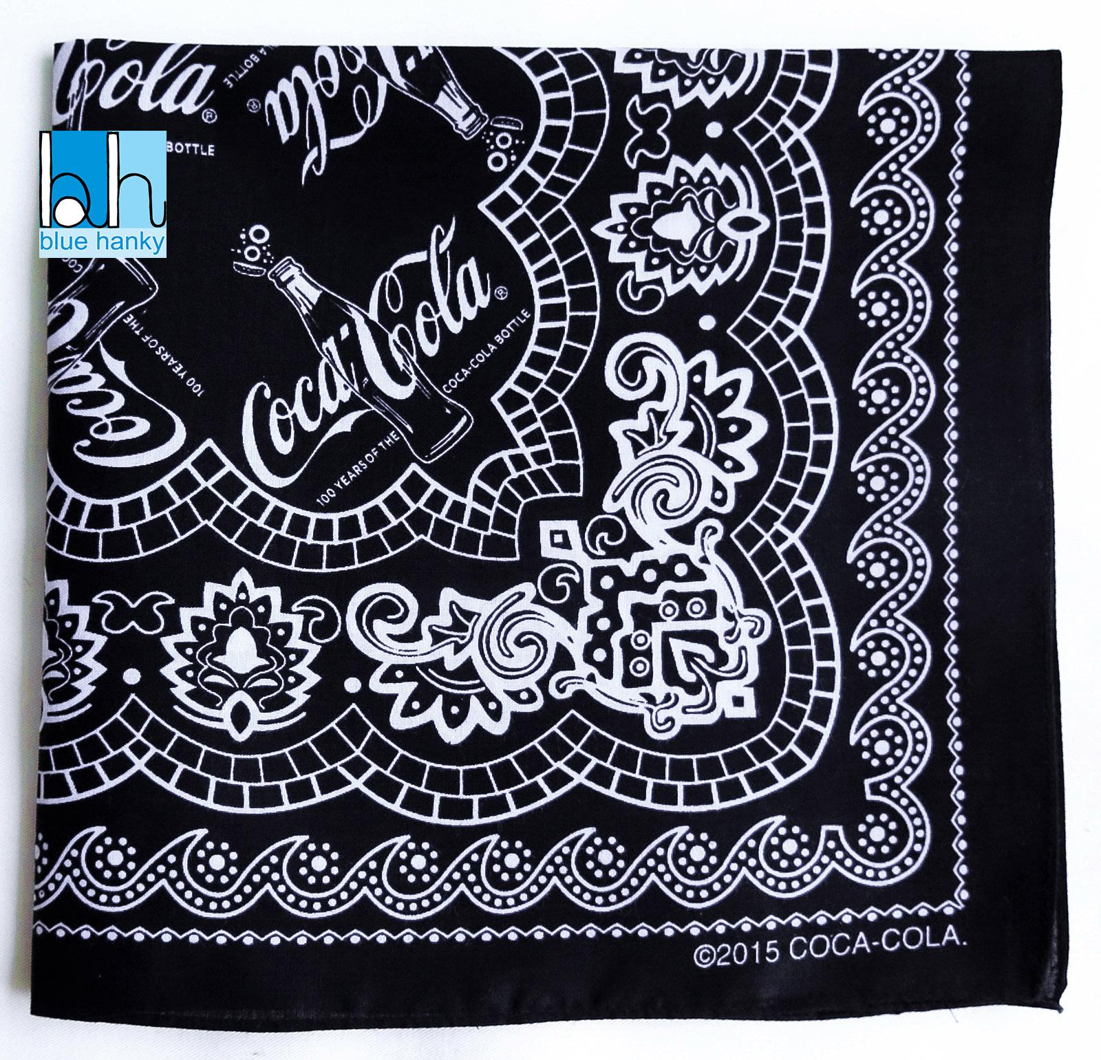 """#299 22"""" Coca Cola ผ้าเช็ดหน้ามือ2 สภาพดี ผ้าเช็ดหน้าผืนใหญ่"""