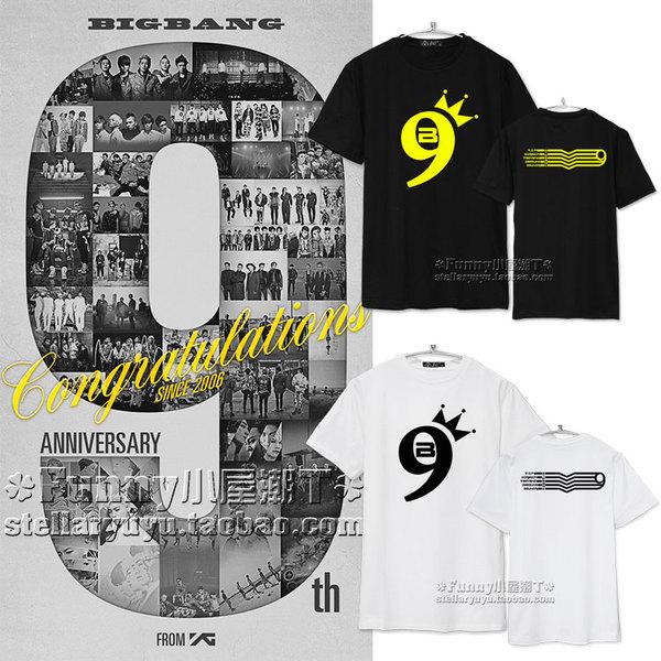 เสื้อยืด 9th BIGBANG IS VIP -ระบุสี/ไซต์-