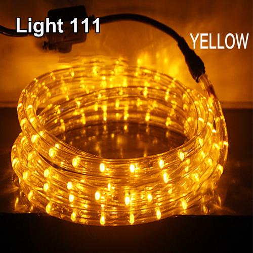 ไฟสายยาง LED (ท่อกลม) 10 m. สีเหลือง
