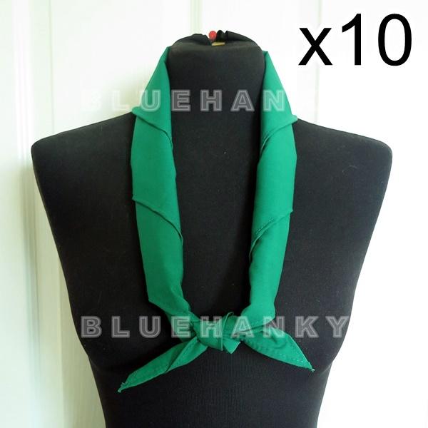 10ผืน สีเขียวเข้ม สามเหลี่ยม100ซม ลูกเสือ