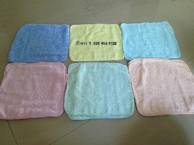 ผ้าขนหนู Cotton100% ผ้าเช็ดหน้า สีหวาน คละสี 11*11นิ้ว โหลละ 85 บาท ส่ง 50โหล
