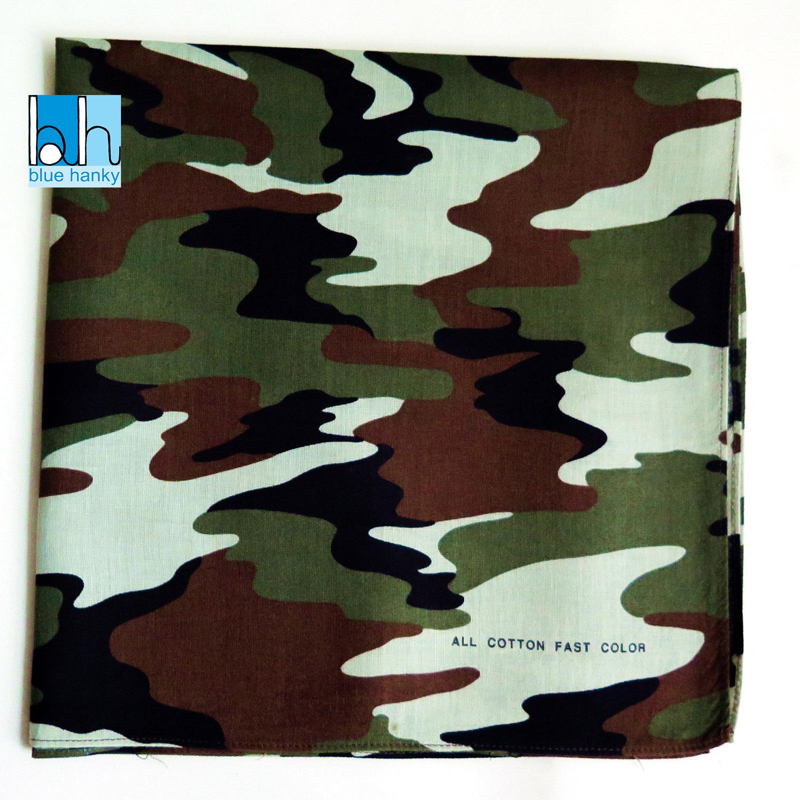 """#256 21"""" ทหาร ผ้าเช็ดหน้ามือ2 สภาพดี ผ้าเช็ดหน้าผืนใหญ่"""