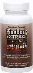Pine Bark Extract 150 mg. สารสกัดจากเปลือกสน ช่วยลดและป้องกัน ฝ้า กระ