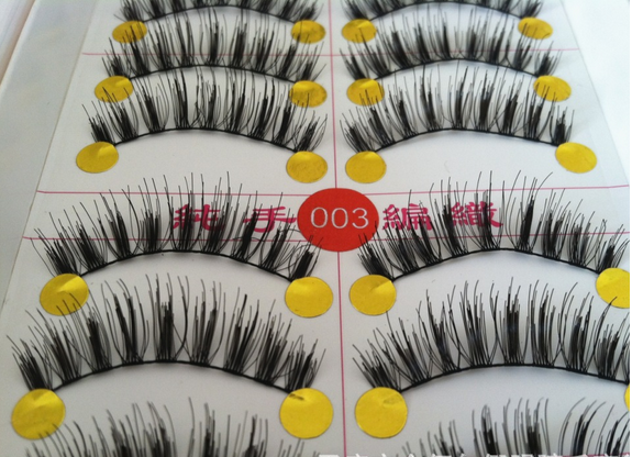 V-003 ขนตา(ขายปลีก) เเพ็คละ 10 คู่