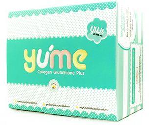 YUME Collagen 20,000mg. ยูเมะคอลลาเจน ผสมกลูต้าไธโอนและสารอาหารเร่งผิวขาวเต็มmax 15ซอง