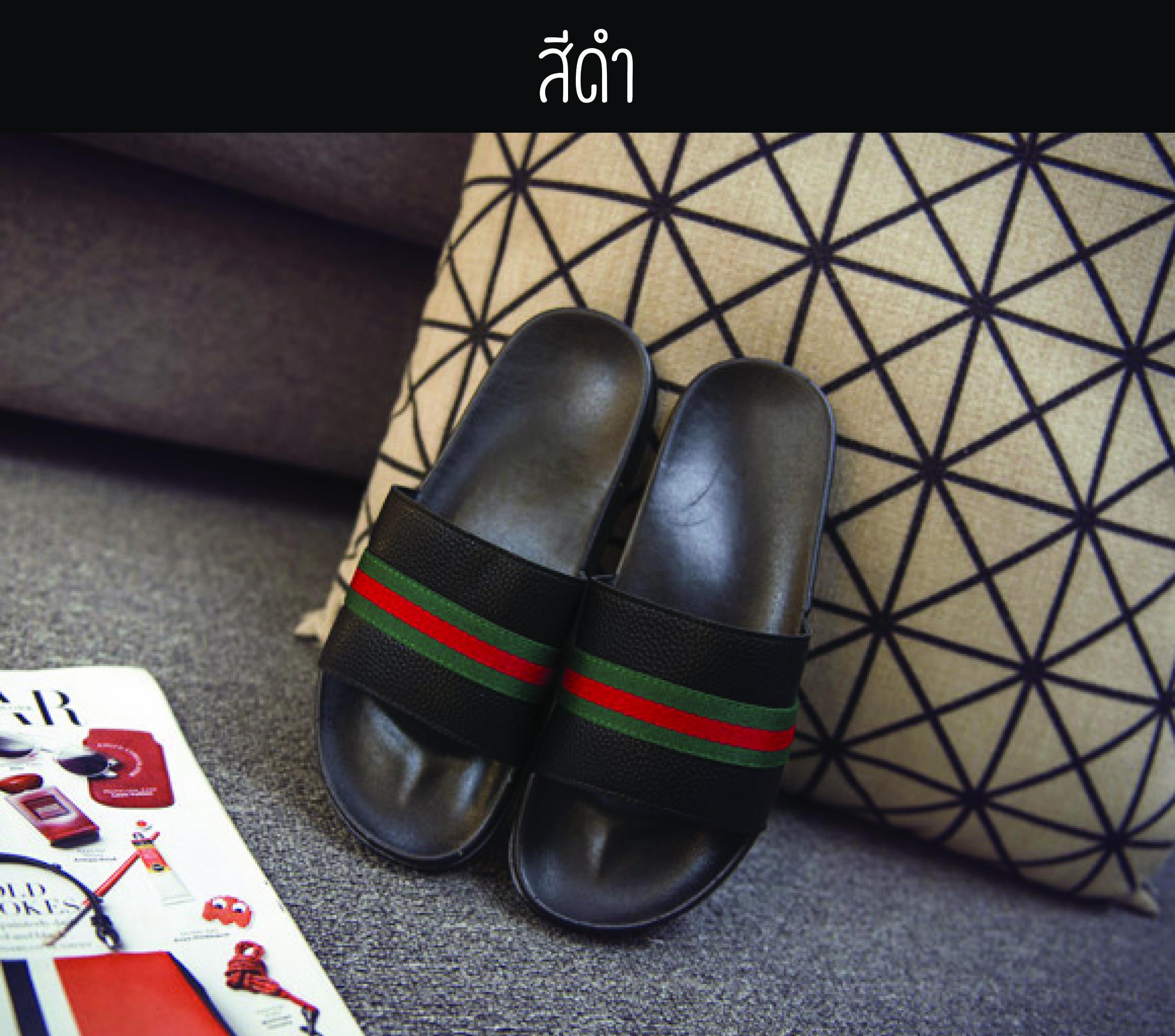 5521 - รองเท้าแตะแฟชั่น สีดำ 42