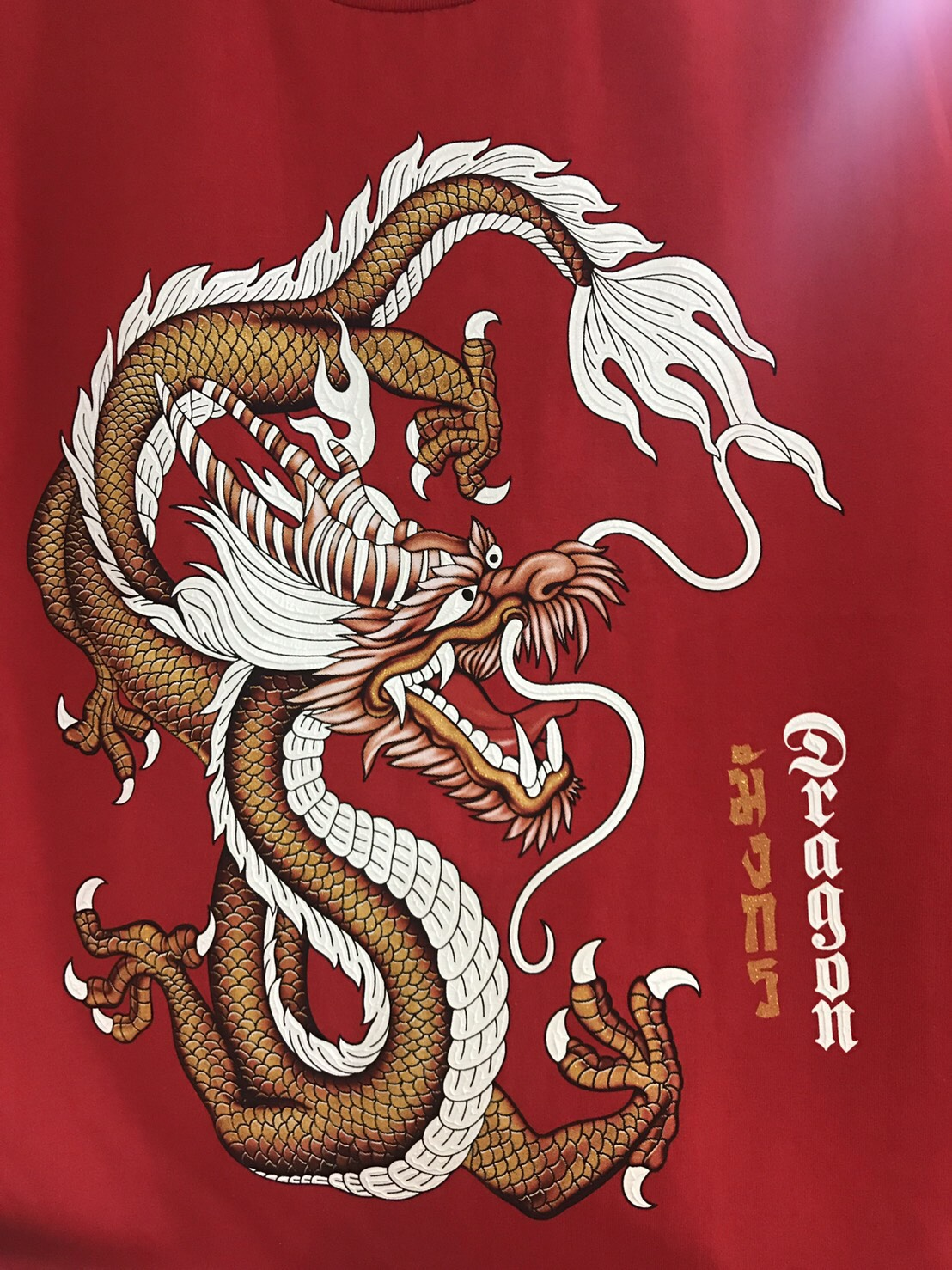 เสื้อสกรีนนูน ลายมังกร Dragon