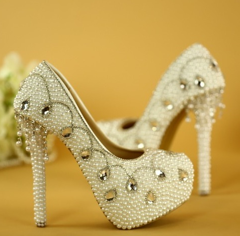 รองเท้าเจ้าสาว ไซต์ 34-40 ส้นสูง 6,8,11,14 ซม.