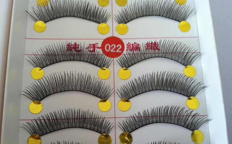 V-022 ขนตาเอ็นใส สีน้ำตาล(ขายปลีก) แพ็คละ 10 คู่