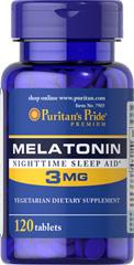 Melatonin 3 mg. 120 เม็ดtablet เมลาโทนินช่วยการนอนหลับ รักษาjet lag ขะลอการชรา หลับสบายหลับลึก