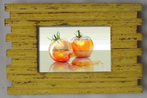 กรอบรูปทำจากไม้ลาย Log Cabin