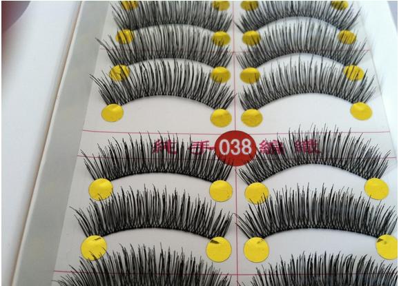 V-038 ขนตา(ขายปลีก) เเพ็คละ 10 คู่ (ขนยาวกว่าเดิม)