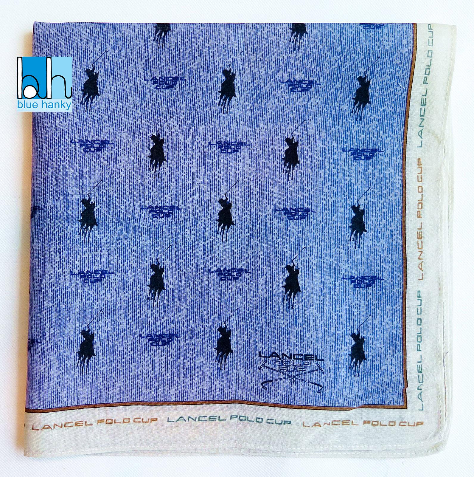 """#209 19"""" LANCEL ผ้าเช็ดหน้ามือ2 สภาพดี ผ้าเช็ดหน้าผืนใหญ่"""