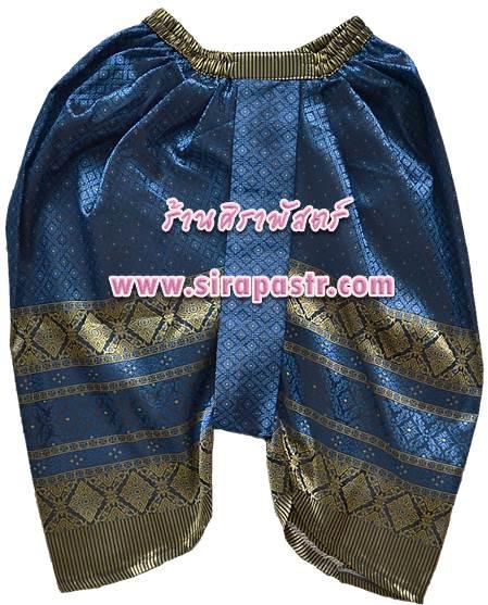 โจงกระเบน-ลายไทย สีฟ้าเข้ม *รายละเอียดในหน้าสินค้า