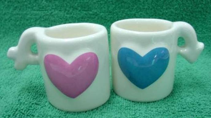 แก้วสัญลักษณ์หัวใจ(เล็ก)
