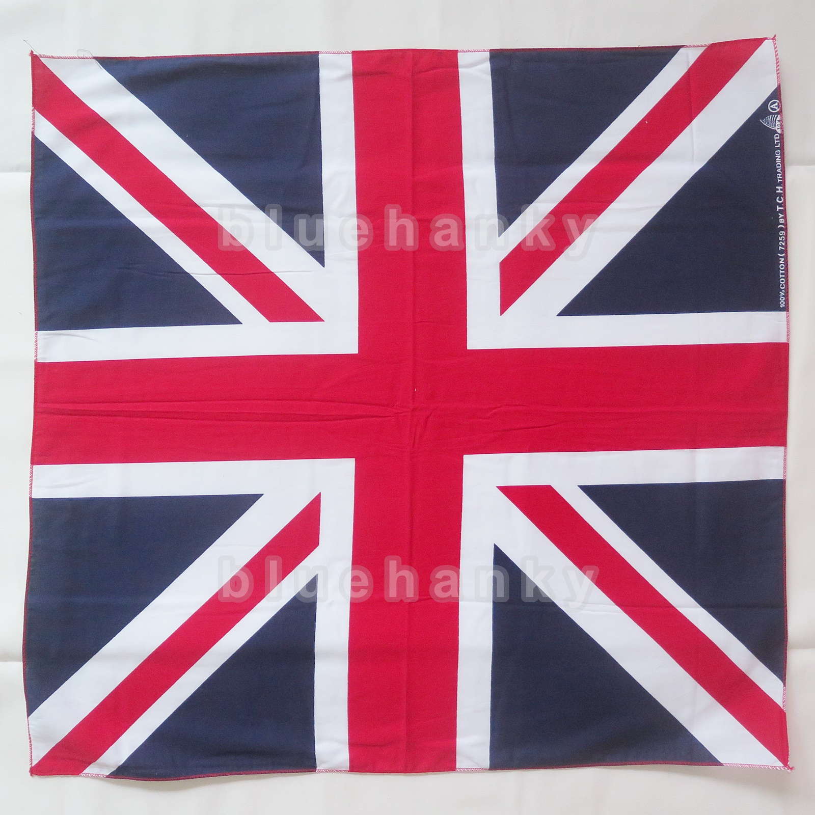ผ้าพันคอBandannasไซส์บิ๊ก 28นิ้ว ธงสหราชอาณาจักร