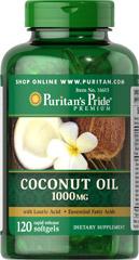 Puritan Coconut Oil 1000mg 120 softgels น้ำมันมะพร้าวสกัดเย็น บำรุงผม ผิวพรรณ และลดน้ำหนัก