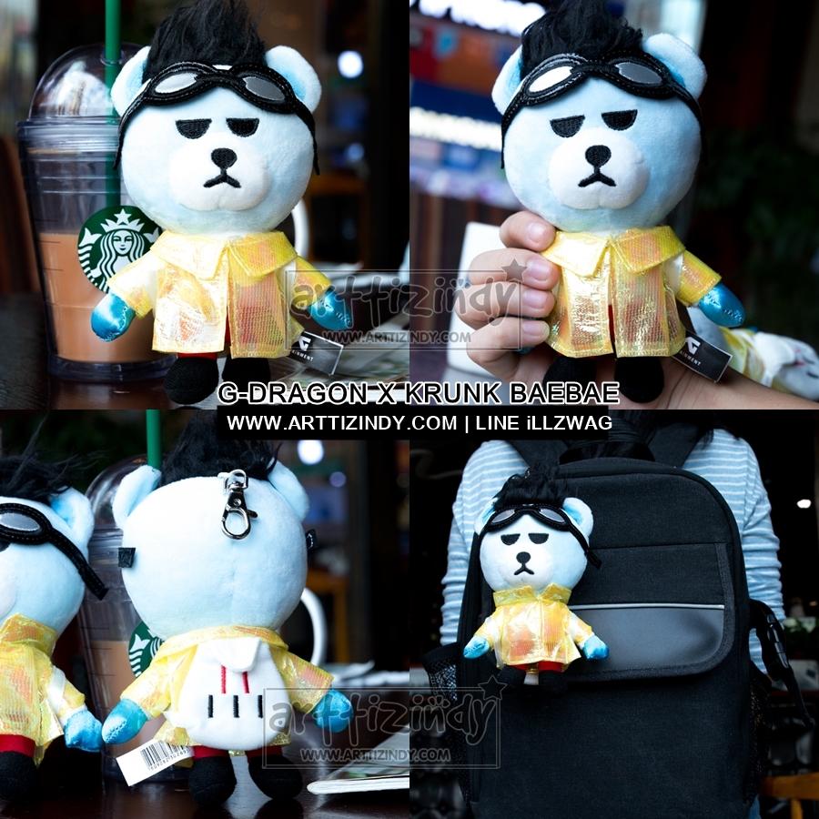 ตุ๊กตาพวงกุญแจ (15cm) KRUNK G-DRAGON BAEBAE