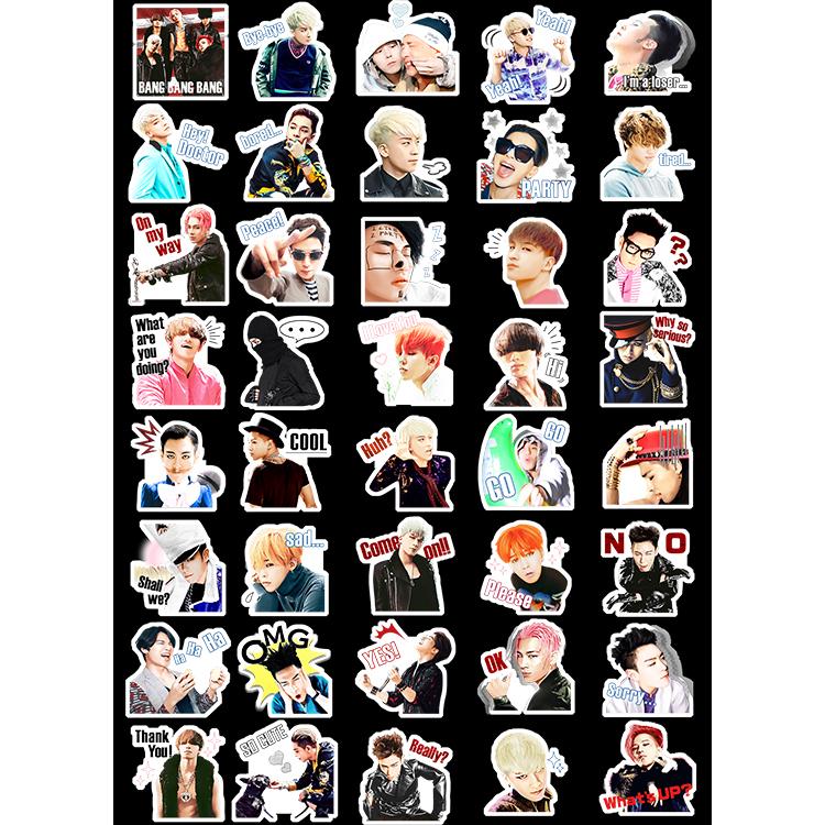 สติ๊กเกอร์พีวีซีเซต BIGBANG Sticker LINE