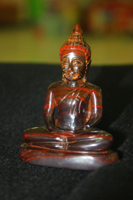พระพุทธรูปบูชาปางสมาธิหินไทเกอร์ไอออน (Tiger Iron)