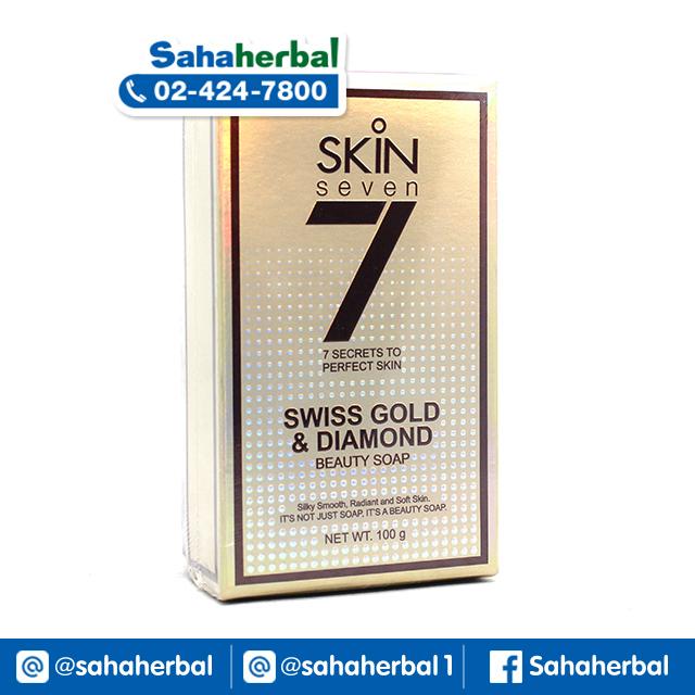 สบู่ Skin 7 สบู่ทองคำและผงเพชร Swiss gold & Diamond SALE 60-80% ฟรีของแถมทุกรายการ