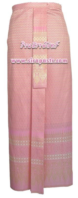 ผ้าถุงป้าย-หน้านาง NPA-8 สีชมพูโอรส (เอวใส่ได้ถึง 34 นิ้ว) *แบบสำเร็จรูป-รายละเอียดตามหน้าสินค้า