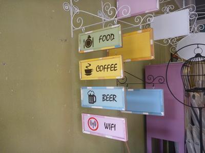 ป้ายเมนูร้านกาแฟ
