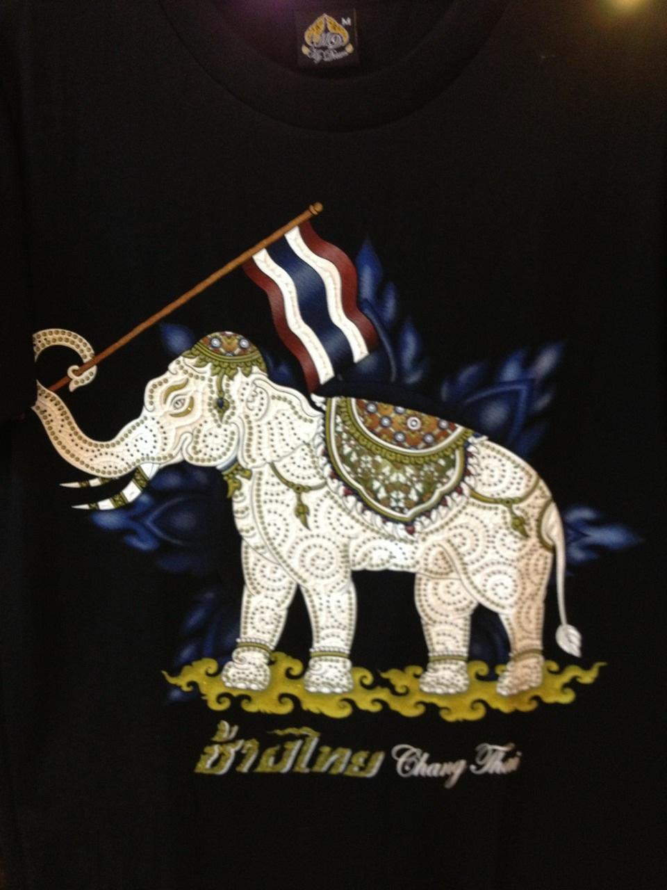 เสื้อยืดคอกลมลายช้าง-ธงชาติ