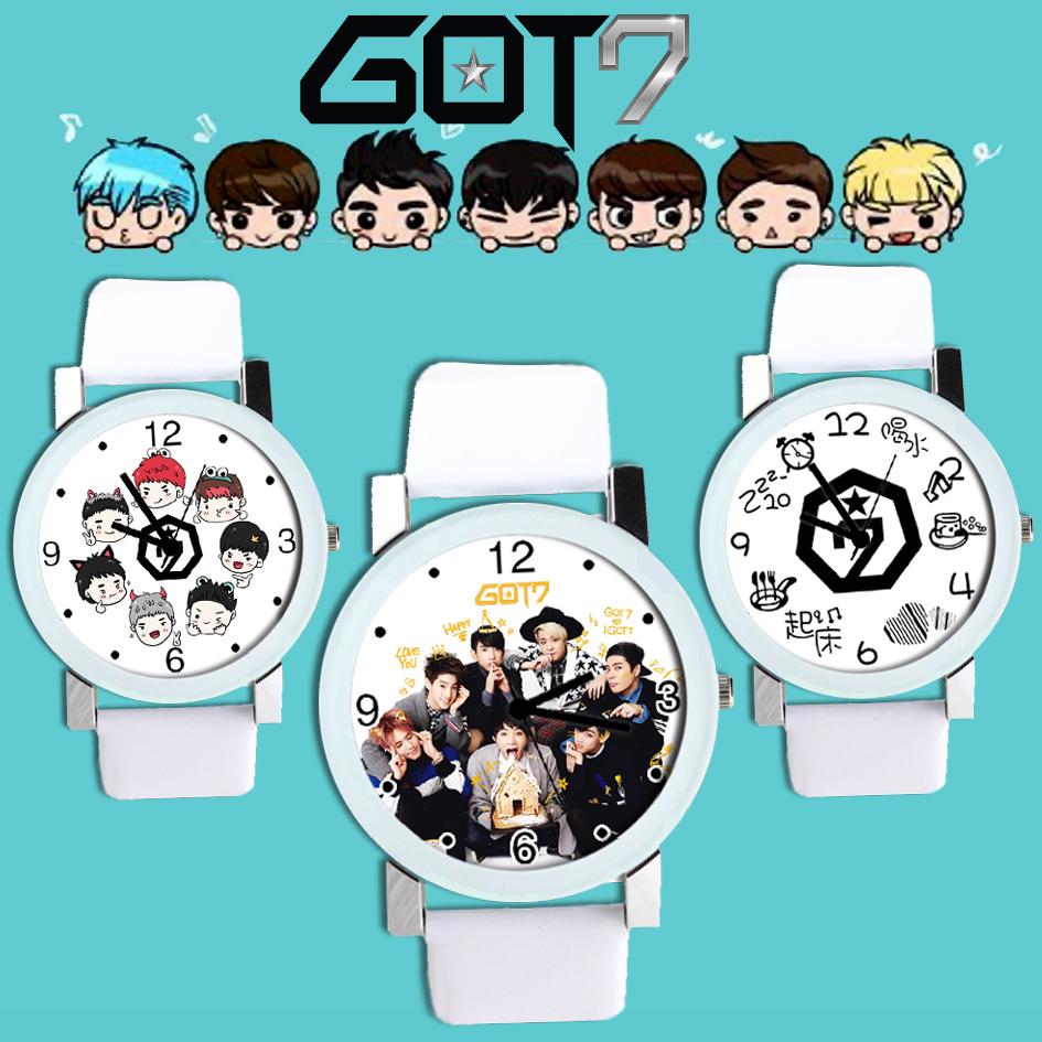 นาฬิกาข้อมือ GOT7 Cartoon -เลือกแบบ/ระบุสี-