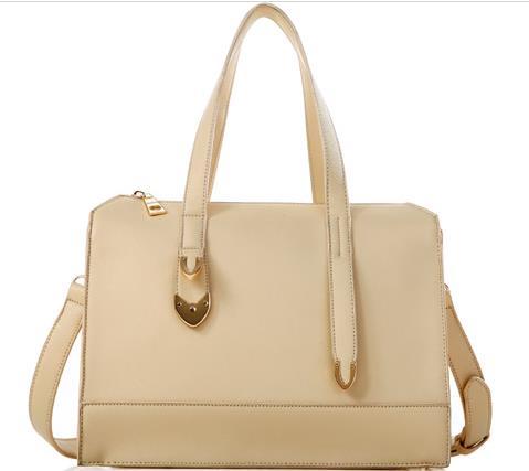 AXIXI BAG กระเป๋าถือ+สะพายสีครีม แบบเรียบหรู (พรีออเดอร์)