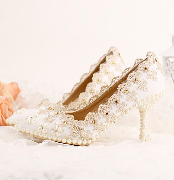 รองเท้าเจ้าสาว ไซต์ 34-39 ส้นสูง 5,7,9 ซม.