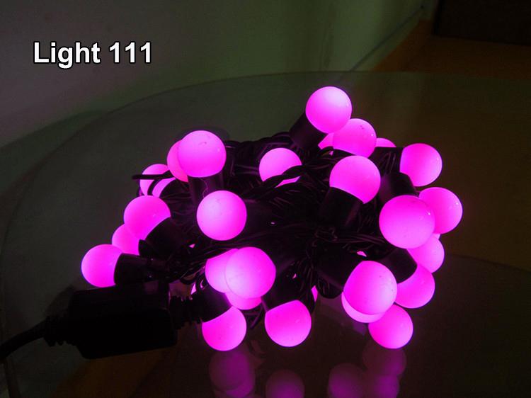 ไฟเชอรี่ LED สีชมพู
