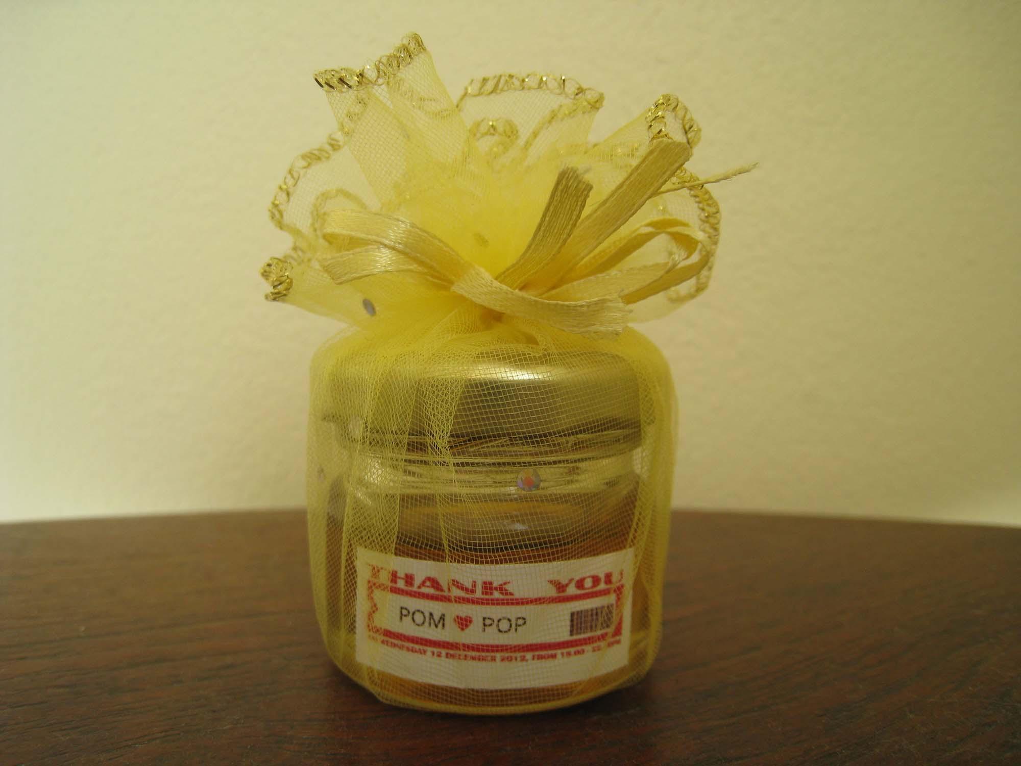 ของชำร่วยน้ำผึ้งในขวดแก้ว
