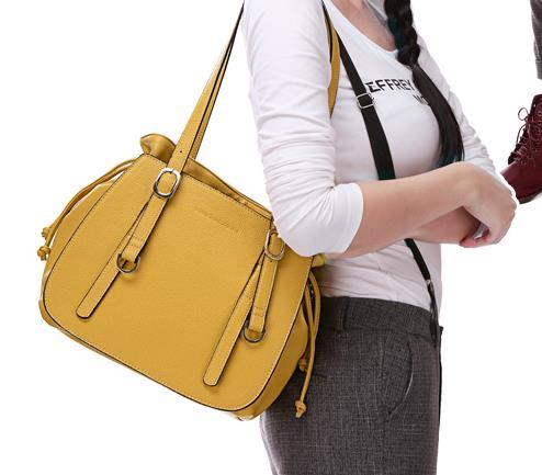 กระเป๋าแฟชั่น Share Young สีเหลือง(พรีออเดอร์)