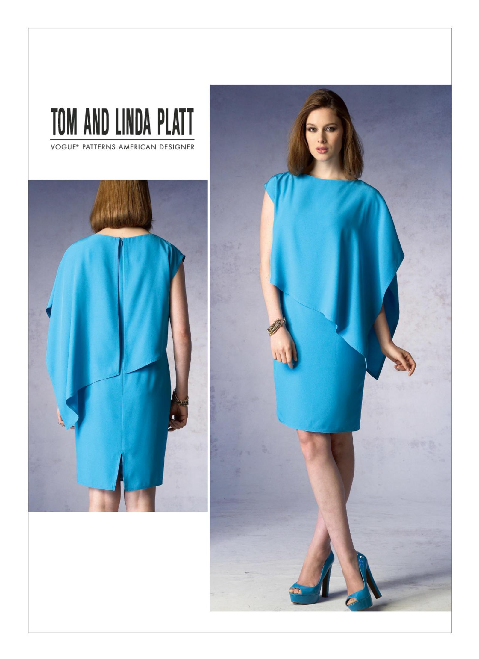 ลดราคา -- แพทเทิร์นตัดเดรสสตรี งานดีไซน์เนอร์ Vogue 1373 Size: 8-10-12-14-16