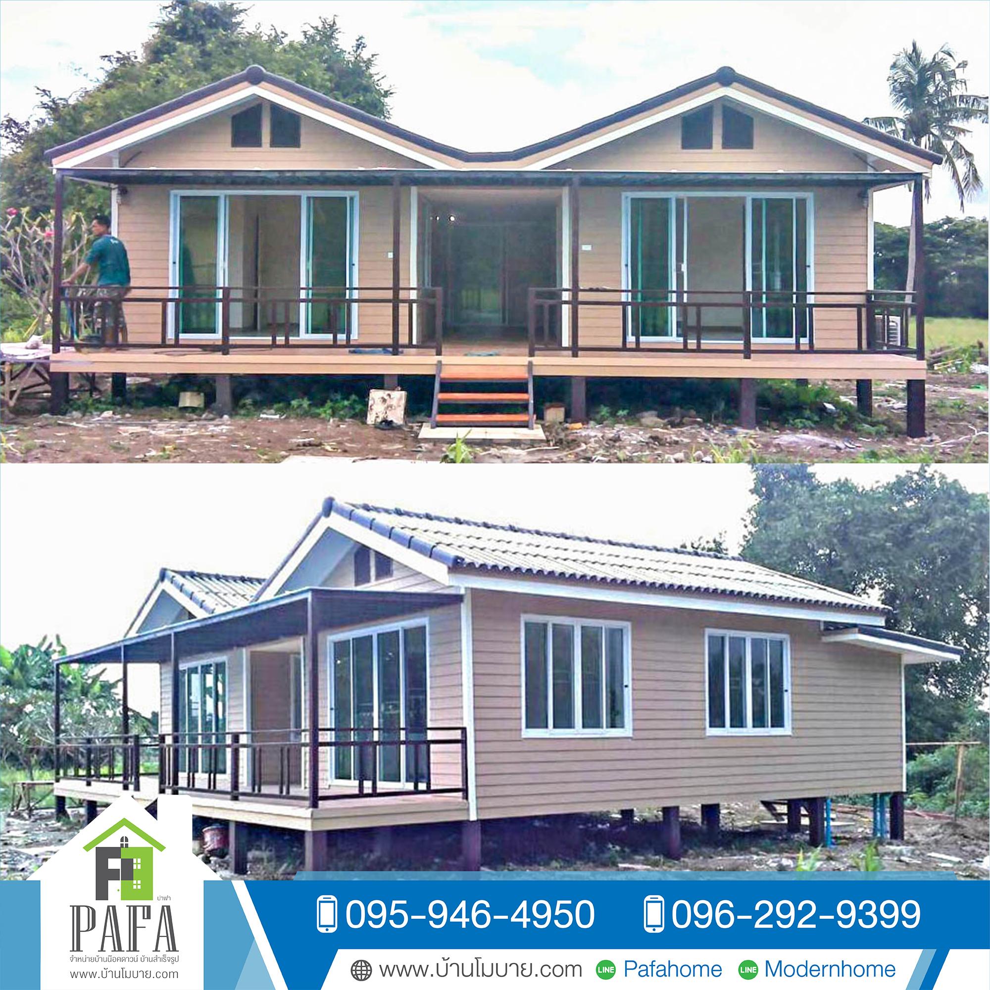 บ้านแฝด ขนาด 4*8 เมตร 2 หลัง (4ห้องโถงใหญ่ 3ห้องน้ำ 1ห้องครัว)