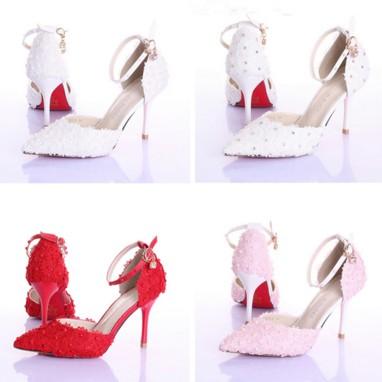 รองเท้าเจ้าสาว ไซต์ 34-39 ส้นสูง 9 ซม.