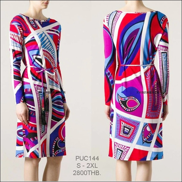 PUC144 Preorder / EMILIO PUCCI DRESS STYLE