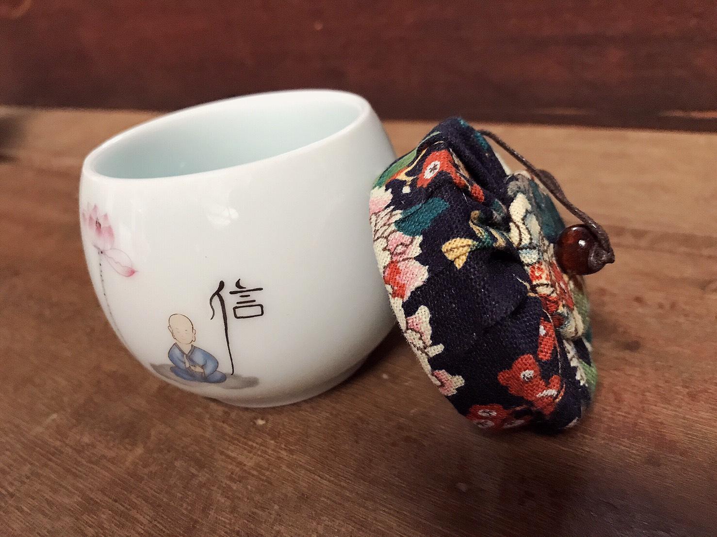 ถ้วยแก้วชงชา พร้อมดื่ม แบบคลาสสิคมากๆๆ ฝาปิดด้วนบนเป็นผ้า