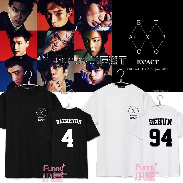 เสื้อยืด EXO EX'ACT MEMBER -ระบุสี/ไซต์/สมาชิก-