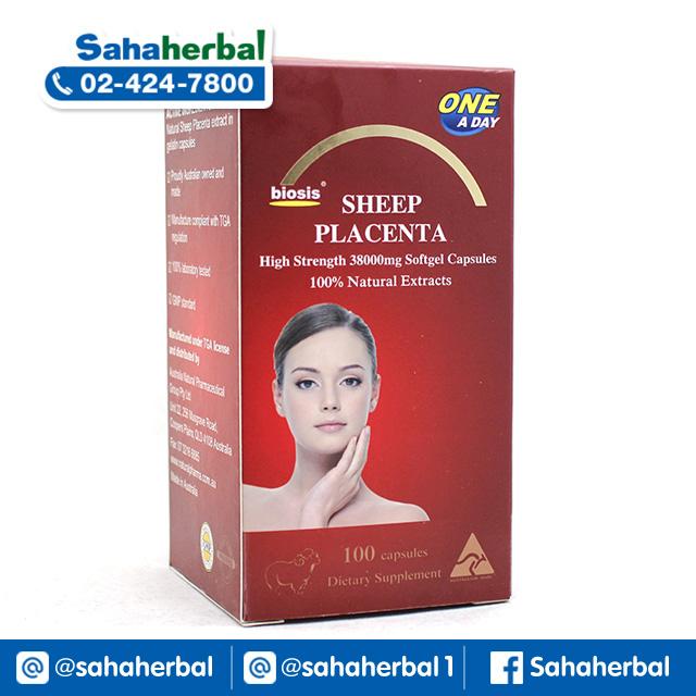 Biosis Sheep Placenta 38,000 mg รกแกะเม็ด ไบโอซิส SALE 60-80% ฟรีของแถมทุกรายการ