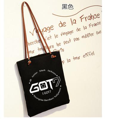 กระเป๋าผ้าสายหนัง GOT7 -ระบุสี-