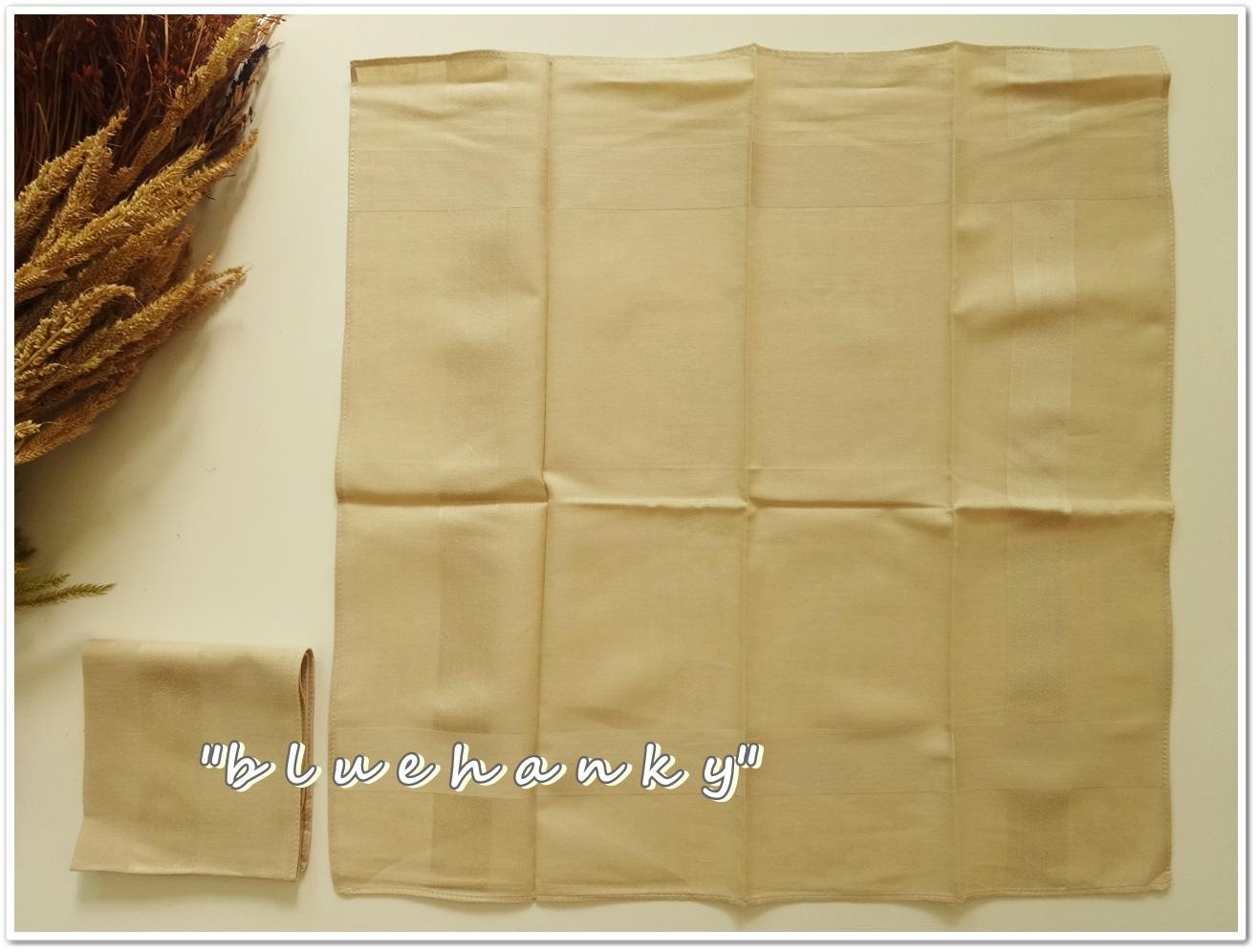 ผ้าเช็ดหน้าสีพื้น สีน้ำตาล